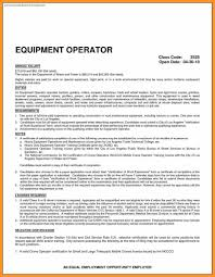 Heavy Equipment Operator Resume Resume For Heavy Equipment Operator Bio Letter Format 24