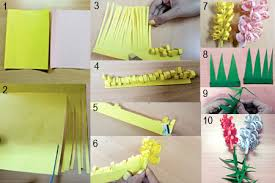 Chart Paper Flower Making Robinage Arts And Crafts For Children Fun Projects For Kids With