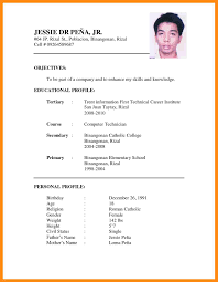 7 Sample Of Cv Resume Dtn Info