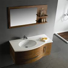 vigo 44 single bathroom vanity with mirror and shelves black walnut free modern bathroom