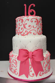Sweet 16 Cake Maybe In Red And Black And Gold Instead Cakes 16