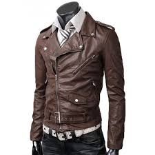 belted rider light brown slim fitted leather jacket