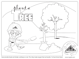 Coloring Picture Of A Tree