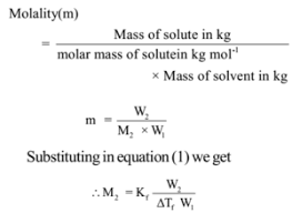 Freezing Point Depression And Its Use To Find Molecular Mass