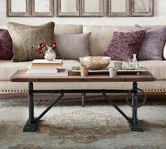 coffee tables pottery barn crank coffee table tanner round coffee table pottery barn
