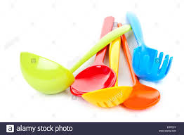 colorful kitchen utensils. Various Colorful Plastic Kitchen Utensils On White Background