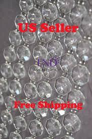 acrylic crystal garland strand chain hanging diamond bead wedding tree decor