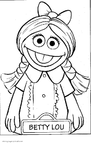 Small Picture Betty Lou coloring pages of Sesame Street