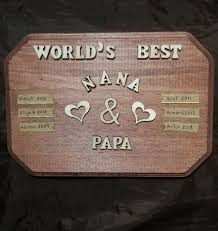 details about 2018 3d wooden letters personalized gifts for grandma grandpa dad mom nany papa