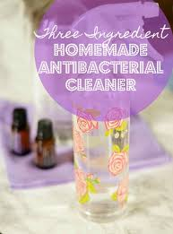 this natural homemade antibacterial cleaner recipe with vinegar and essential oils can be used for almost