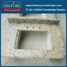 history stone hgj108 sunny fower laminate bullmose prefab polishing granite indoor unfinished stone countertops vanity top for residental bathroom
