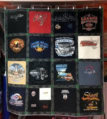 Quilts 'N Kaboodle Twin Size Harley Davidson T-shirt Quilt ... & Twin Size Harley Davidson T-shirt Quilt Adamdwight.com