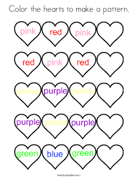 Small Picture Color the hearts to make a pattern Coloring Page Twisty Noodle
