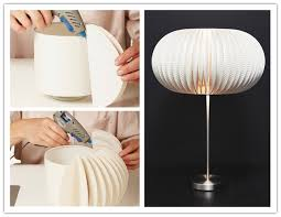 DIY paper plate lamp shade
