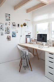 lovely home office setup. White Is A Lovely Colour For Workspace, Like This Scandi Inspired Home  Office. It\u0027s Look That Would Work Just As Well In Bedroom. Office Setup P