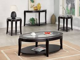 enchanting black coffee table sets in fresh living room and inspiring