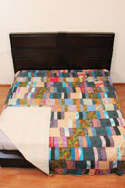 9 best Patchwork Bed throws / Bed spreads images on Pinterest ... & Multicolored Patchwork Comforter Silk Bedspread Indian Kantha Twin Size  Quilt Summer Blanket Adamdwight.com