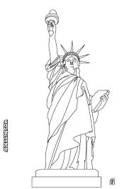 Statue De La Liberte Coloriage L