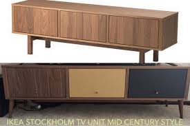 tv stand ikea black. ikea stockholm mid century tv stand redo | hackers hacks pinterest ikea stockholm, tv stands and stockholm black