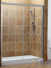 semi frameless bath and shower door