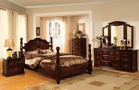 Pine Bedroom Furniture Set Tuscan Ii Glossy Dark Pine Poster Bedroom Set From Furniture Of