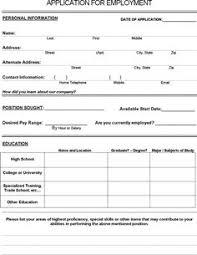Employee Application Form Free Printable Blank Employment Application Form Ukran Poomar Co Printable Job