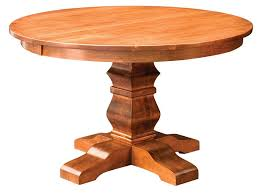 amish single pedestal dining table for two solid wood round plan 17