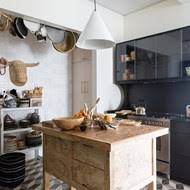 Dark Wall Kitchen