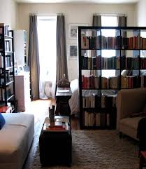 Studio Apartments Decorating Small Spaces Enchanting Fabulous Bookshelf Room Divider Inspiration Using A Bookcase As A