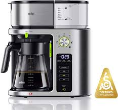 Clean Light On Braun Coffee Maker Braun Kf9070si Multiserve Machine 7 Programmable Brew Sizes 3 Strengths Iced Coffee Glass Carafe 10 Cup