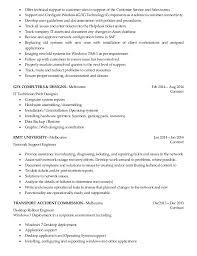 Desktop Support Engineer Sample Resume Resume Example Desktop Resume