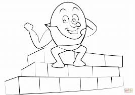 humpty dumpty coloring page free printable pages