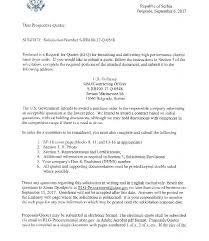 Srb10017q0548 Rfq Cover Letter U S Embassy In Serbia