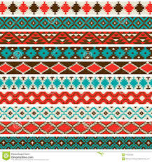 Navajo border designs Unique Collection Of 10 Different Native American Border Patterns In Red Turquoise Brown And Tan Dreamstimecom Native American Border Patterns Stock Vector Illustration Of