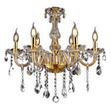 Lemeizhijia Kristall Kronleuchter Vintage Lüster Deckenleuchte Pendelleuchte Gold Für Wohnzimmer Esszimmer Schlafzimmer 6 Flammig