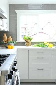 grey and white tile backsplash white kitchen with grey white subway tile backsplash gray grout