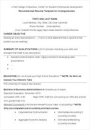 Two Page Resume Format Stunning Economics Graduate Resume Sample Two Page Resume Examples Resume