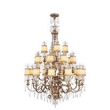 livex la bella chandelier in hand painted vintage gold leaf
