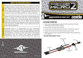 Castle Gearing Chart Sidewinder Micro 2 Quick Start Guide Manualzz Com