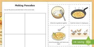 sheet pan cake recipe making pancakes sequencing worksheet activity sheet pancake