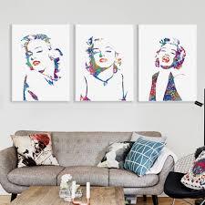 Marilyn Monroe Wall Sticker By The Bright Blue Pig Marilyn Monroe Living Room Decor