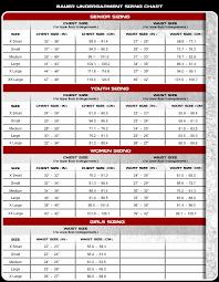 Bauer Skate Size Chart 15 Skillful Eddie Bauer Size Charts