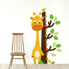 Giraffe Growth Chart Wall Decal Sticker Set Sirface Graphics