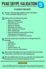 Can Validation Now Skype Office - Pvao Facebook You Philippine Veterans Affairs
