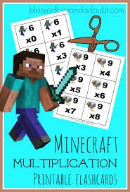 Minecraft Multiplication Flashcards FREE PrintablesMake Flash Cards Free