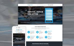 Car Template Car Repair Responsive Landing Page Template 58068