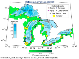 In the aftermath of the disaster. Scientists Want To Create A Warning System For Freshwater Tsunamis Michigan Radio