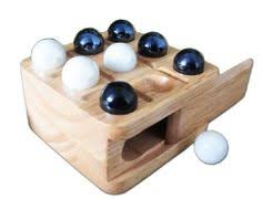Game With Wooden Board And Marbles Tic Tac Toe Wood Wooden Board Game Box Set Marbles Travel Mini 84