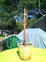 tiki torch stands holders 2 in holder and a place for cigarette home ideas tiki torch stands