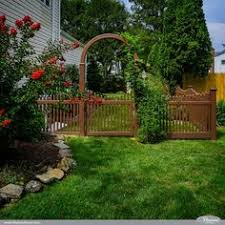 Illusions PVC Vinyl Fence Photo Gallery Vinyl picket fence Fence